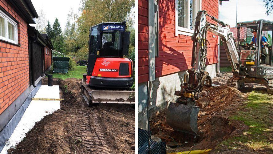 Salaojitus suojaa talon perustuksia ja rakenteita kosteus-, home- ja routavaurioilta